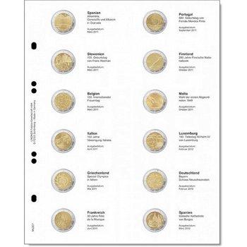 Lindner Vordruckblatt für 2 Euro-Gedenkmünzen: Spanien 2011 - Spanien 2012, LI MU2E7