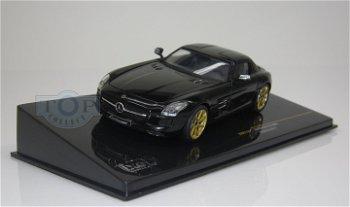 Modellauto:Lorinser Mercedes-Benz SLS AMG (RSK8) von 2011, schwarz(IXO, 1:43)