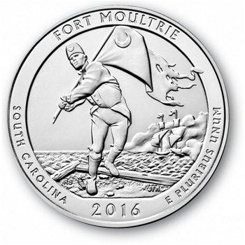 2016, Fort Moultrie, Nationalpark Quarter Münze, USA