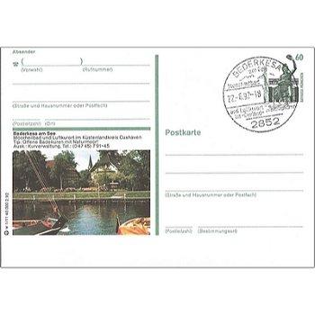 """2852 Bederkesa am See - Bildpostkarte - """"mit Briefmarke Bavaria München"""""""