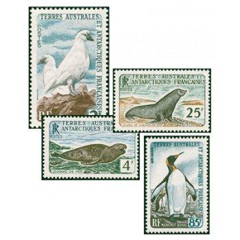 Tiere der Antarktis - 4 Briefmarken postfrisch, Katalog-Nr. 19-22, TAAF
