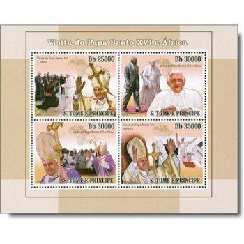 Papst Benedikt XVI. besucht Afrika - Briefmarken-Block, St. Thomas