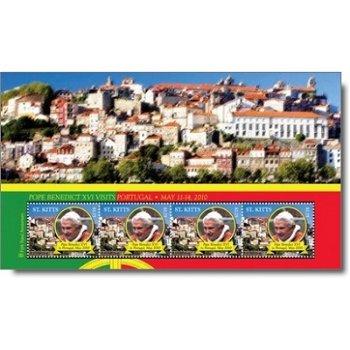 Besuch von Papst Benedikt XVI. in Portugal - Briefmarken-Block postfrisch, Katalog-Nr. 1169, St. Kit