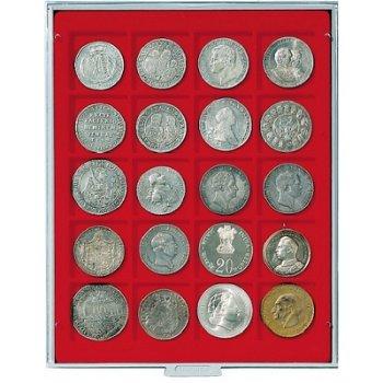 LINDNER Münzenbox, quadratische Vertiefungen 47mm, LI 2120, Standard