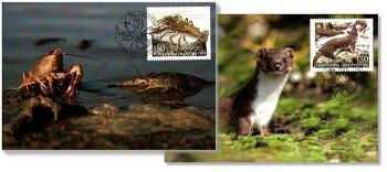 Europa 2021: Gefährdete nationale Wildtiere - 2 Maximumkarten, Liechtenstein