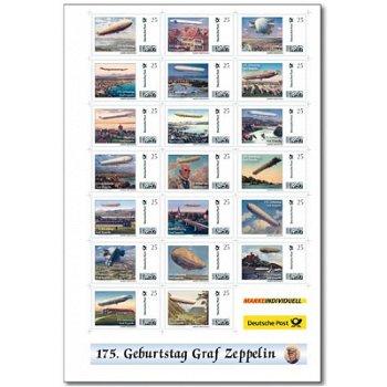 175. Geburtstag Graf Zeppelin - Kleinbogen postfrisch, Deutschland
