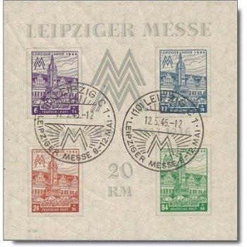 Leipziger Messe, Block 5x gestempelt, Katalog-Nr. 162-65, Sowjetische Zone West-Sachsen