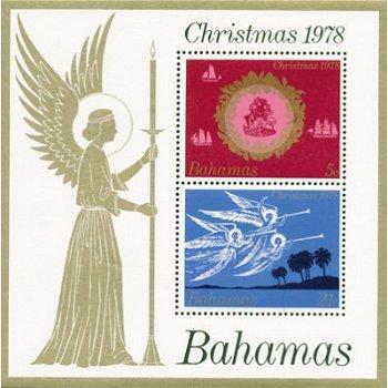 Weihnachten 1978 - Briefmarken-Block postfrisch, Katalog-Nr. 434-435, Block 25, Bahamas
