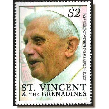 Papst Benedikt XVI. in den USA - Briefmarke postfrisch, St. Vincent & Grenadinen