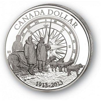Arktis Expedition - Silberdollar 2013, 1 Dollar Silbermünze, Canada