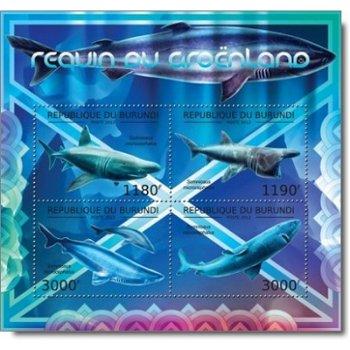 Grönlandhai – Briefmarken-Block postfrisch, Burundi