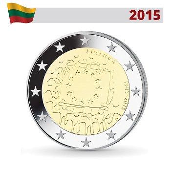 30 Jahre Europaflagge, 2 Euro Münze 2015, Litauen