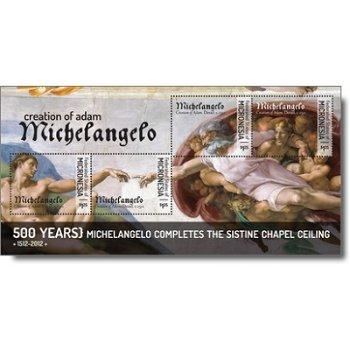 Michelangelo - Briefmarken-Block postfrisch, Micronesien