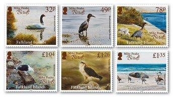 Vögel - 6 Briefmarken postfrisch, Falkland Inseln