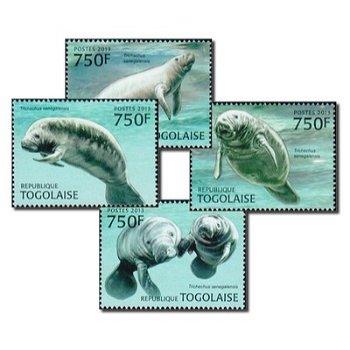 Seerobben - 4 Briefmarken postfrisch, Togo