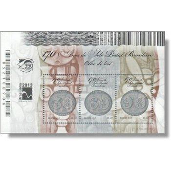 170 Jahre brasilianische Briefmarken Ochsenaugen - Block postfrisch, Brasilien