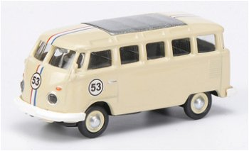 Modellauto:VW T1c Samba Rallye mit # 53(Schuco, 1:87)