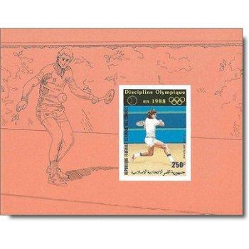 Olympische Sommerspiele 1988 - 4 Luxusblocks postfrisch, Katalog-Nr. 788-791, Komoren