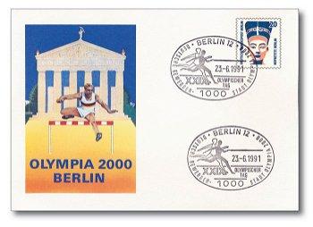 XXIX.Olympischer Tag / Deutsche Bewerberstadt - Sonderbeleg Deutschland