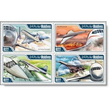 Concorde - 4 Briefmarken postfrisch, Katalog-Nr. 5013 - 5016, Malediven