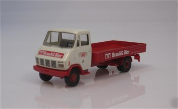 Modell-LKW:Steyr 590 Pritsche - Brau AG Bier -(Brekina, 1:87)