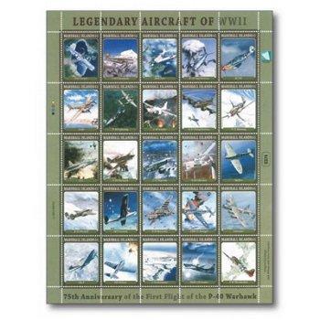 Flugzeuge - Briefmarken-Kleinbogen postfrisch, Marshall-Inseln