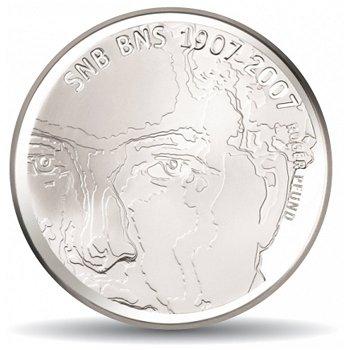 100 Jahre Schweizerische Nationalbank, 20 Franken Münze 2007 Schweiz, Polierte Platte