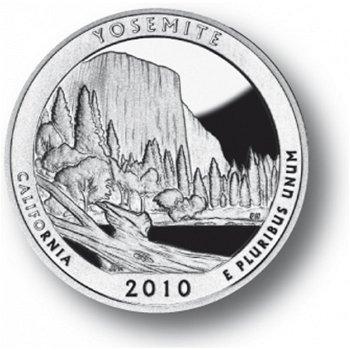 Yosemite/Kalifornien, Nationalpark Quarter Münze, USA