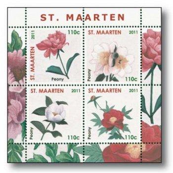 Pfingstrose - Briefmarken-Block posfrisch, Sint Maarten