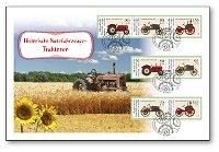 Für die Jugend 2021: Historische Nutzfahrzeuge, Traktoren - Ersttagsbrief, Deutschland