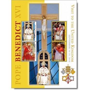 Besuch von Papst Benedikt XVI. im Vereinigten Königreich - Briefmarken-Block postfrisch, Sierra Leon