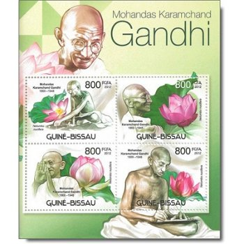 Mohandas Karamchand Gandhi - Briefmarken-Block postfrisch, Guinea-Bissau