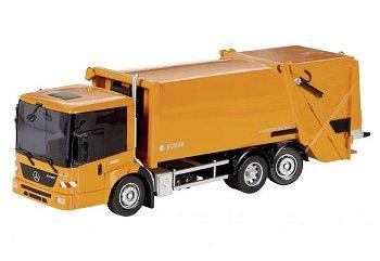 Modell-LKW:Mercedes-Benz Econic Müllwagen, orange(Schuco, 1:87)