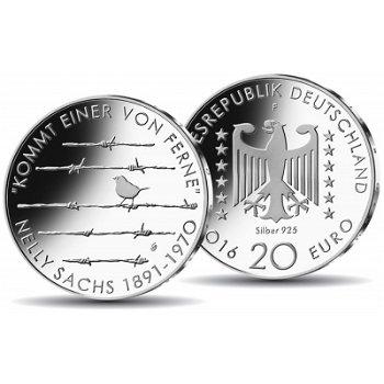 125. Geburtstag Nelly Sachs, 20 Euro Silbermünze Stempelglanz, Deutschland