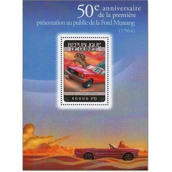 Autos: Ford Mustang - Briefmarken-Block postfrisch, Guinea