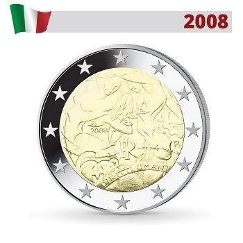 Menschenrechte, 2 Euro Münze 2008, Italien