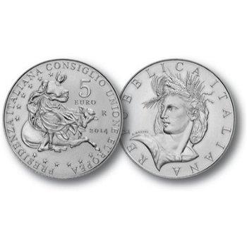 EU-Präsidentschaft 2014, 5 Euro Silbermünze Italien