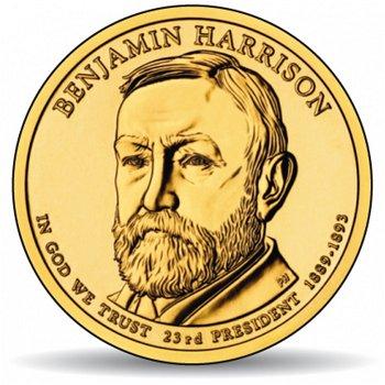 Benjamin Harrison, Präsidentendollar 2012, USA