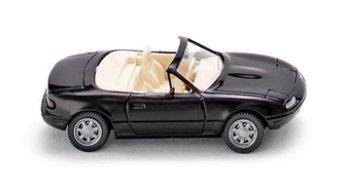 Modellauto:Mazda MX 5 von 1989, schwarz(Wiking, 1:87)