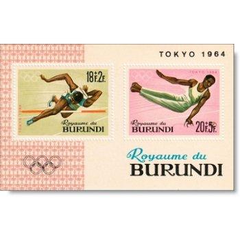 Olympische Spiele Tokio - Briefmarkenblock postfrisch, Burundi