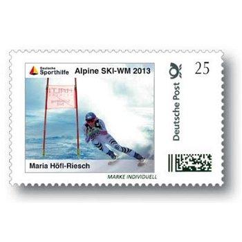 Alpine Ski-WM 2013, Maria Höfl-Riesch - Marke Individuell postfrisch, Deutschland