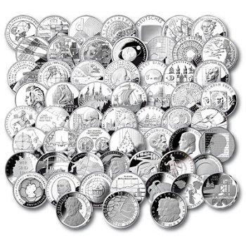 Komplette Sammlung der deutschen 10 Euro Münzen, Polierte Platte