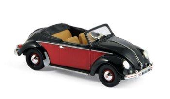 Modellauto:VW Hebmüller von 1949, rot-schwarz(Norev, 1:43)