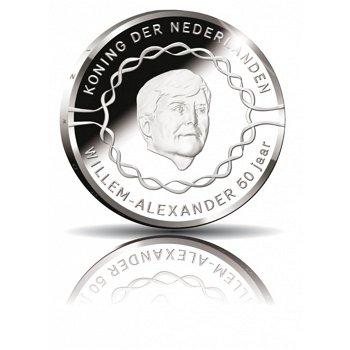 50. Geburtstag König Willem-Alexander, 10 Euro Silbermünze 2017, polierte Platte, Niederlande