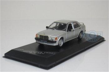 Modellauto:Mercedes-Benz 190 E 2.3 16 V von 1988, silber-metallic(WhiteBox, 1:43)