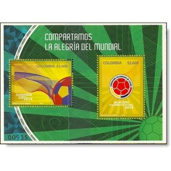 Fußball-Weltmeisterschaft - Briefmarken-Block postfrisch, Kolumbien