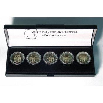 Lindner Münz-Etui für einen Satz 2 Euro-Gedenkmünzen Deutschland, S2090