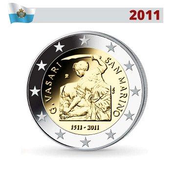 2 Euro Münze 2011, Giorgio Vasari, San Marino