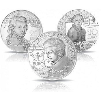 Mozart: Die Serie, 3 Silbermünzen, Österreich