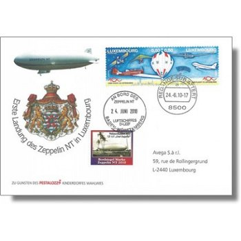 Zeppelin NT, 1st Landing in Luxembourg - Proof, Luxembourg